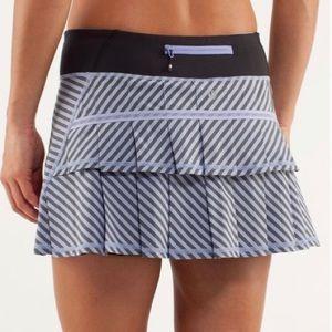 Lululemon Pace Skirt Polar Stripe